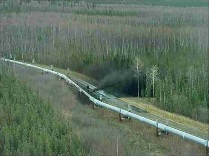 Прорыв трубопровода в Альберте, Канада, 2001