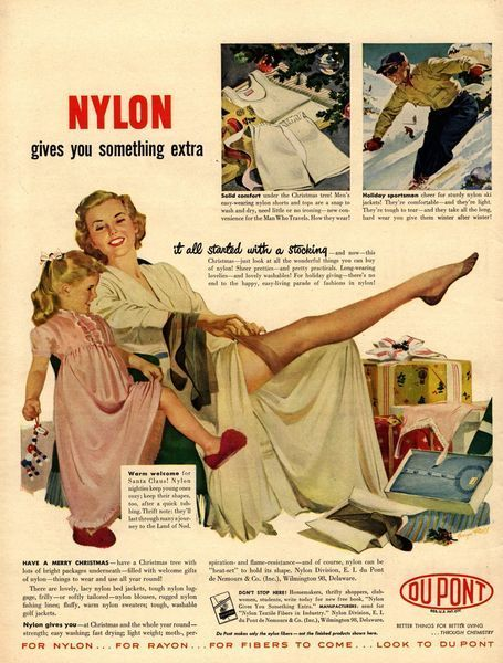 Nylon by DuPont 1940s USA nylons stockings hosiery
