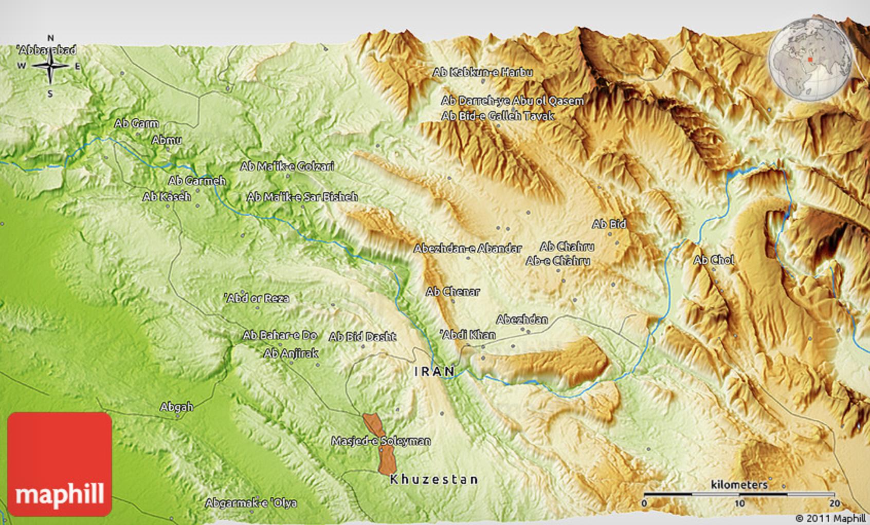 Карта Хузестан