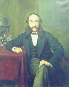 Барон Пол Джулиус Ройтер во всей красе своих бакенбард. 1869 год.