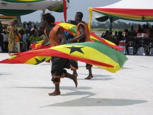 Добычу первой нефти празднуют в Гане, 2010 год