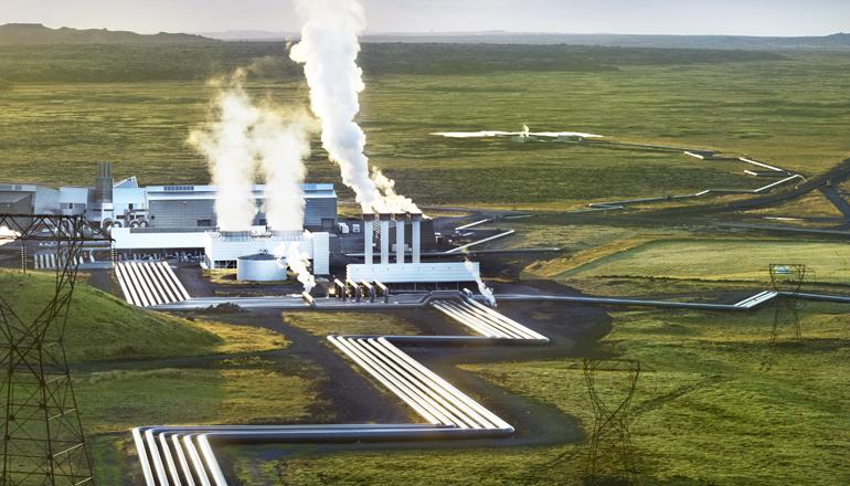 ГэоТЭС в Хэдлисхэйди в Исландии, месторасположение проекта минерализации CO2.