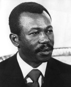 Менги́сту Ха́йле Мариа́м, военный и государственный деятель Эфиопии, подполковник. В 1987—1991 годах — президент и председатель Государственного Совета Эфиопии.