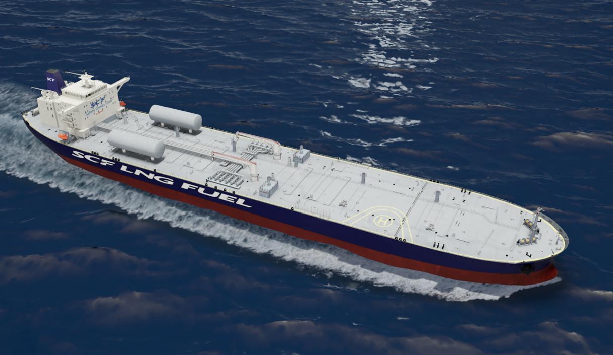 01 - SCF LNG fueled Aframax tanker concept
