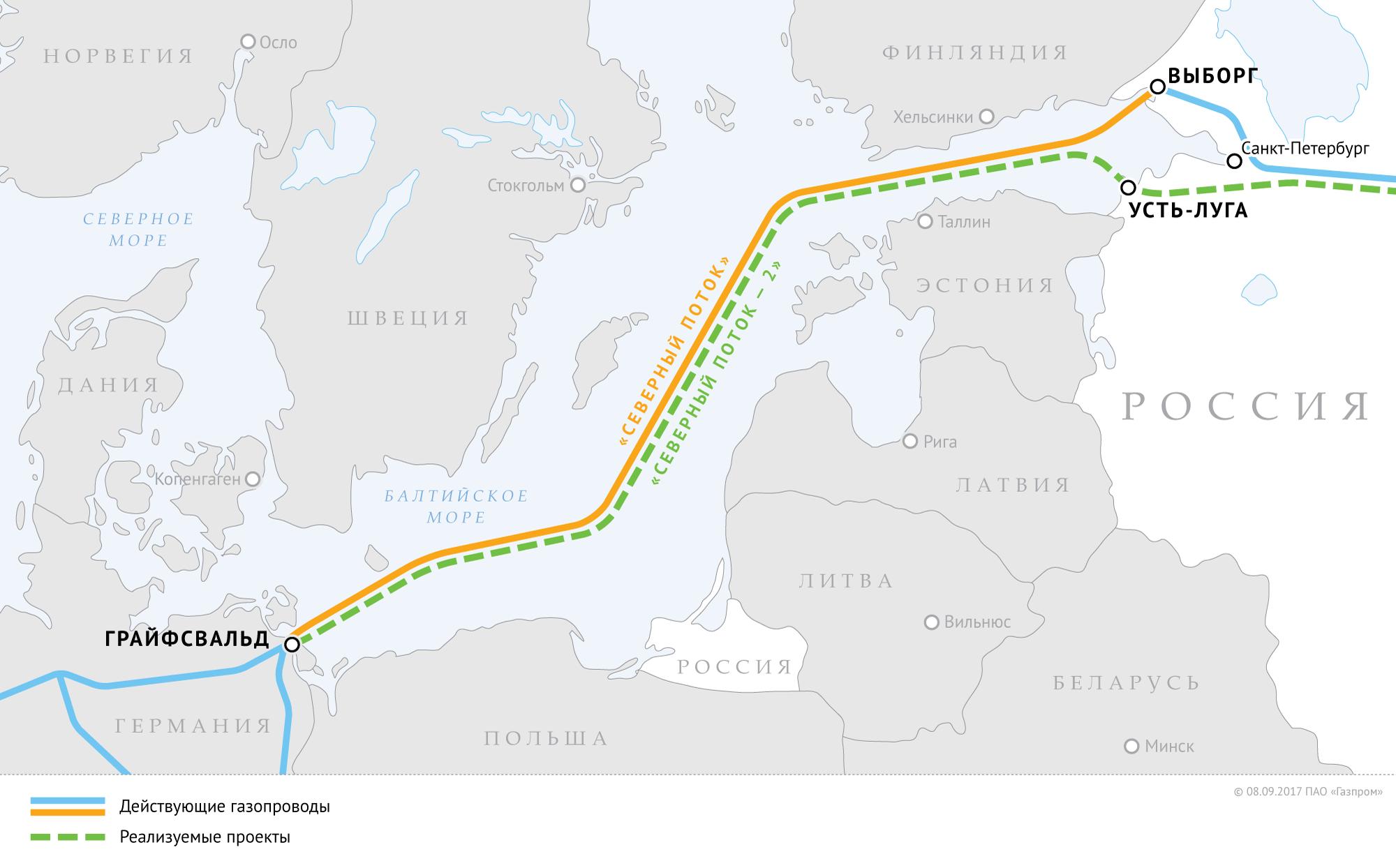 Что происходит с «Северным потоком-2»?